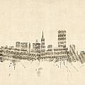 San Francisco Skyline Sheet Music Cityscape by Michael Tompsett