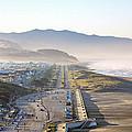 San Francisco Morning - The Great Highway Ocean Beach by Daniel Furon