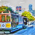 San Francisco Trams 4 by Yury Malkov