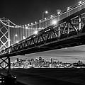 San Francisco - Under The Bay Bridge - Black And White by Alexis Birkill
