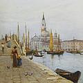 San Giorgio Maggiore From The Zattere by Helen Allingham