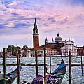 San Giorgio With Gondola by Brenda Kean