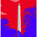 San Jacinto Monument Red White Blue by Robert J Sadler