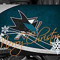 San Jose Sharks Christmas by Joe Hamilton