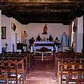 San Juan Mission Interior by Ricardo J Ruiz de Porras