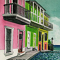 Old San Juan Puerto Rico Street Scene by Frank Hunter