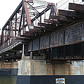 San Lorenzo River Train Bridge At Santa Cruz Beach Boardwalk California 5d23609 by Wingsdomain Art and Photography