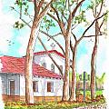 San Luis Obispo Mission In San Luis Obispo, California by Carlos G Groppa