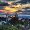 San Miguel De Allende Sunset by Lindley Johnson