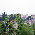 San Nicolas View Of The Alhambra On A Rainy Day - Granada - Spain - Spain by Madeline Ellis