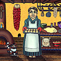 San Pascual Making Biscochitos by Victoria De Almeida