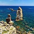 San Pietro Island - Le Colonne Cliff by Antonio Scarpi