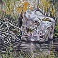 San Poil River Rock by Lynne Haines