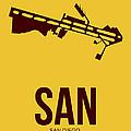 San San Diego Airport Poster 1 by Naxart Studio