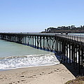 San Simeon Pier  by Christiane Schulze Art And Photography