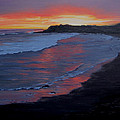 San Simeon Sunset by Karen Ilari