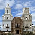 San Xavier Del Bac Mission Facade by Bob Christopher