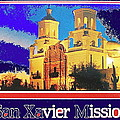 San Xavier Mission Postcard #1  With Lettering No Date-2013  by David Lee Guss