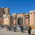 Sanaa Old Town Busy Street In Yemen by Jacek Malipan