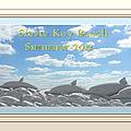 Sand Dolphins - Digitally Framed by Susan Molnar