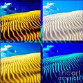Sand Dunes Collage by Susanne Van Hulst