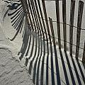 Sand Fence During Winter On The Beach by Randall Nyhof