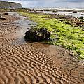 Sand Patterns On Robin Hoods Bay Beach by Deborah Benbrook