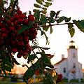 Sand Point Lighthouse Escanaba Michigan  by John McGraw