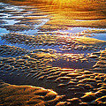 Sand Textures At Sunset by Carolyn Derstine