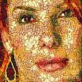 Sandra Bullock In The Way Of Arcimboldo by Dragica  Micki Fortuna