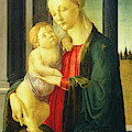 Sandro Botticelli, Madonna And Child, Italian by Quint Lox