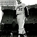 Sandy Koufax Vintage Baseball Poster by Gianfranco Weiss
