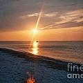 Sandy Neck Beach Sunset by Lisa  Marie Germaine