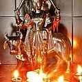 Sani Murti - Temple To Saturn - India by Kim Bemis