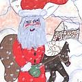 Santa And His Reindeer by Elinor Helen Rakowski