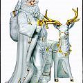 Santa And Reindeer by Debby Richards