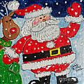Santa And Rudolph by Julie Brugh Riffey