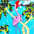 Santa Baby Flamingo by Lizi Beard-Ward