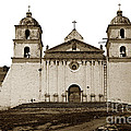 Santa Barbara Mission California Circa 1880 by California Views Archives Mr Pat Hathaway Archives