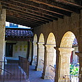 Santa Barbara Mission Cloister by Denise Mazzocco