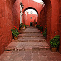 Santa Catalina Monastery In Arequipa Peru by Ralf Broskvar