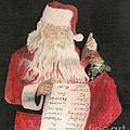 Santa - Checking His List - Christmas by Jan Dappen