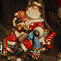 Santa Claus - Antique Ornament -05 by Jill Reger