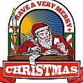 Santa Claus Father Christmas Writing Letter by Aloysius Patrimonio