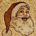Santa Claus Joyful Face by Georgeta  Blanaru