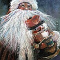 Santa Claus St Nick And The Nutcracker by Shelley Schoenherr