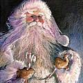 Santa Claus - Sweet Treats At Fireside by Shelley Schoenherr