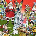Santa Claus Toy Factory by Jesus Blasco