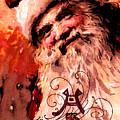 Santa Clause Vintage Poster A Joyful Christmas by R Muirhead Art