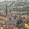 Santa Croce From The Top Of The Duomo by Melany Sarafis